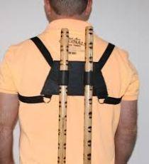 Escrima Self Defens Stick Rückenhalterung aus Leder
