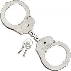 Handfessel Schwere Behördenqualität mit Doppelgelenk, vernickelt.