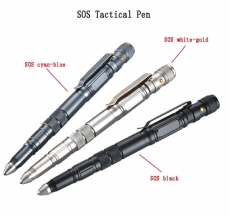 Tactical Pen Self Defense Tool mit SOS Flashlight