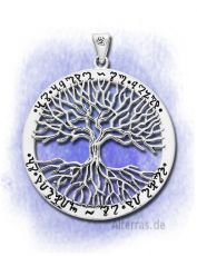 Wicca Tree Of Life Silber