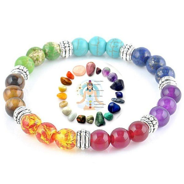7 Chakra Healing Balance Gebet Vulkan Stein Perlen Lava Kubotanshop Für Kubotane Und Tactical Pens Self Defense Sticks