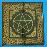 Altartuch groß mit Celtic Rahmen und Pentagramm