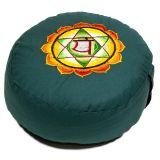 Meditationskissen 4. Chakra Anahata bestickt
