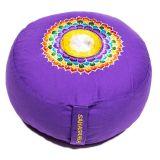 Meditationskissen 7. Chakra Sahasrara bestickt